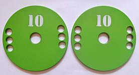 Диск олимпийский металлический 10 кг, фото 3