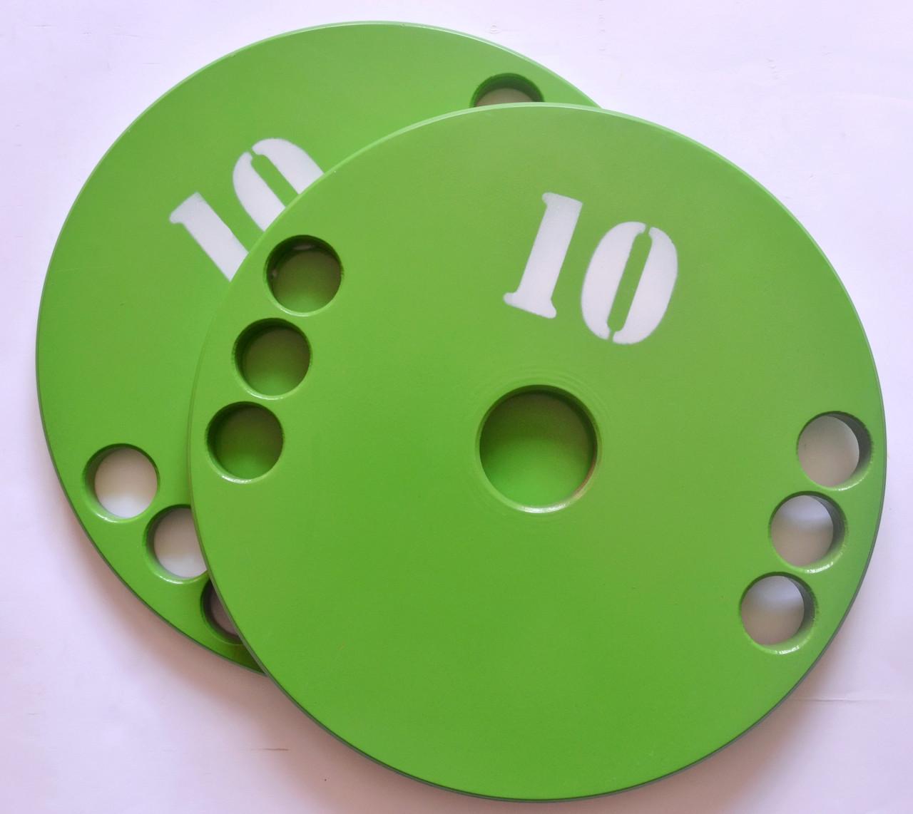 Диск олимпийский металлический 10 кг