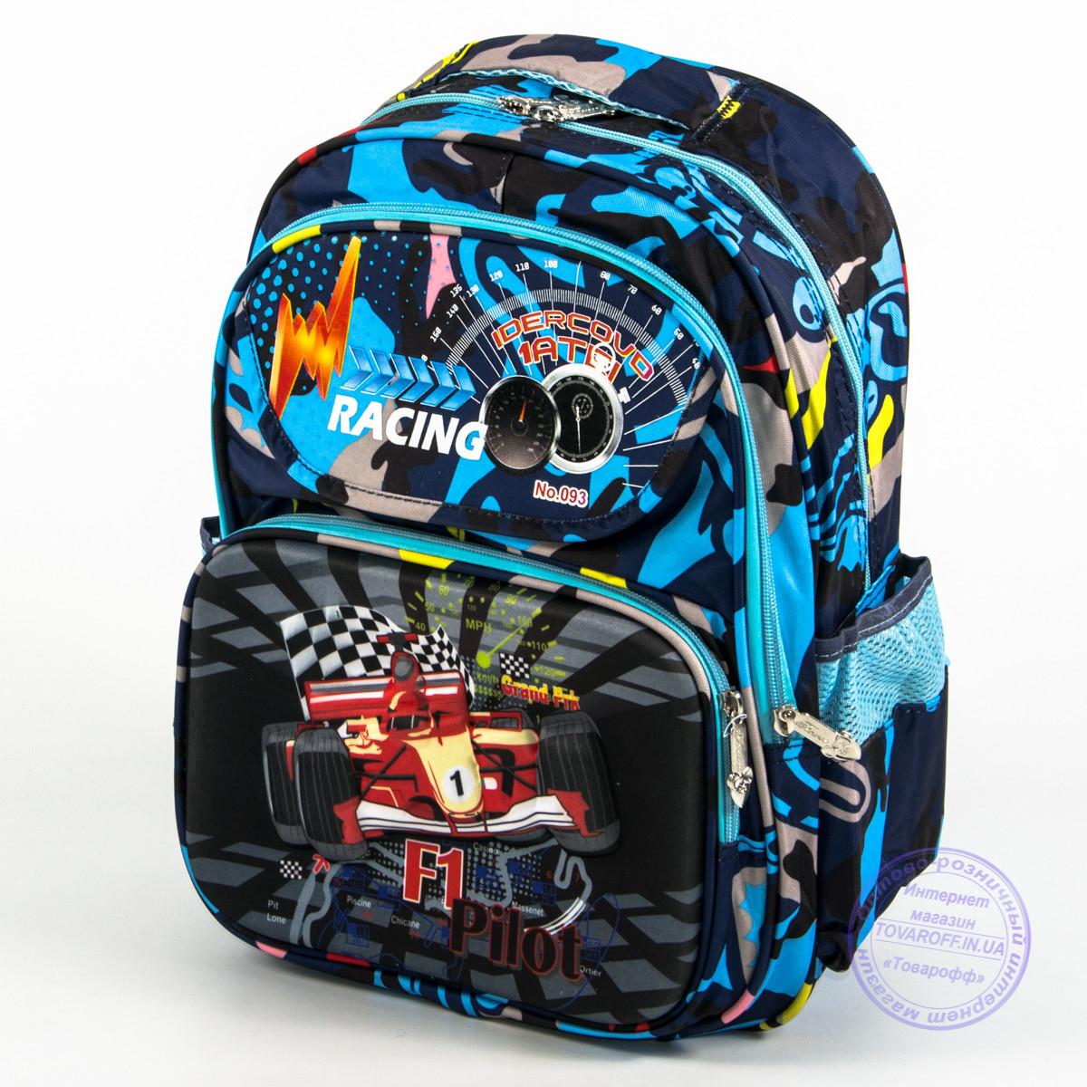 Школьный рюкзак для мальчика с жесткой спинкой и 3D рисунком - синий - 124