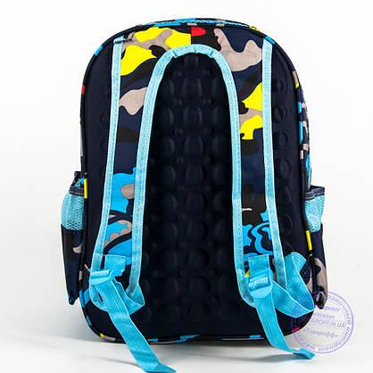 Школьный рюкзак для мальчика с жесткой спинкой и 3D рисунком - синий - 124, фото 2