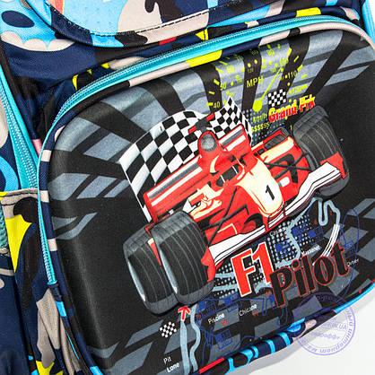 Школьный рюкзак для мальчика с жесткой спинкой и 3D рисунком - синий - 124, фото 3