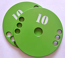 Набір дисків (блінов) для штанги 5-10-15-20 кг (100 кг), фото 3