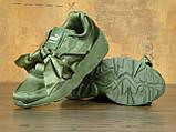 Кроссовки женские Fenty By Rihanna Bow Sneaker Pink 30465 темно-зеленые, фото 4