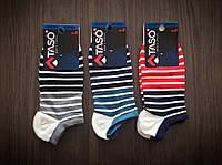 Носки мужские короткие Taso S106 принт цветная полоска (оптом)