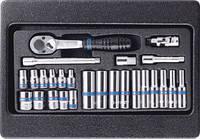 """Набор инструмента 1/4"""" (головки,трещетка,удл.,кардан) King Tony 9-2526MR"""