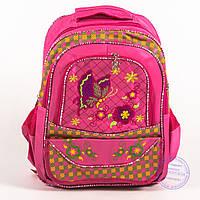 Школьный рюкзак для девочек с бабочкой - розовый - 147, фото 1