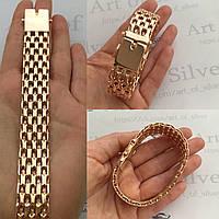 Серебряный позолоченный браслет Якорь Шестерной ( шестирядный).