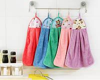 Кухонное полотенце с петелькой фиолетовое