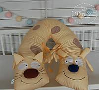 """Подушка для вагітних 3 в 1 """"Кіт та Пес"""" 1273"""