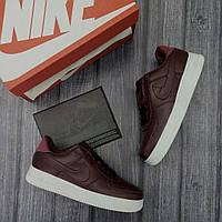 Кроссовки мужские Nike Air Force Low D1694 темно-бордовые