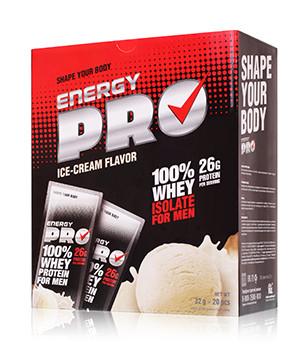 Сывороточный протеин  пломбир для мужчин Energy Pro (протеин енержи про)