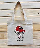 Модные эко-сумки из хлопка (выбирайте любой рисунок) 34х35