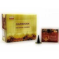 Благовония Frankincense Darshan 10шт/уп. Аромапалочки Ладан (21739)