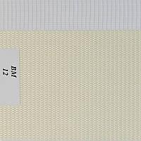 Рулонные шторы День-Ночь Ткань Женева ВМ-12 Молоко