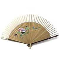 Веер бамбук с шелком 21см (24666AE)