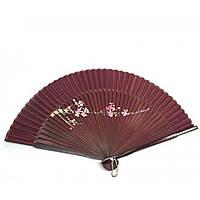 Веер бамбук с шелком с рисунком 21,5см (24691AH)
