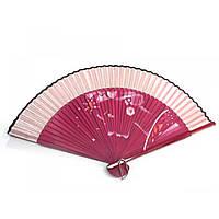 Веер бамбук с шелком с рисунком 21,5см (24691AF)