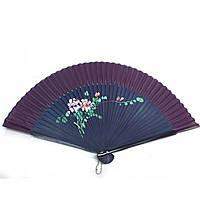 Веер бамбук с шелком с рисунком 21,5см (24691AM)