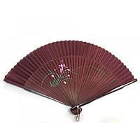 Веер бамбук с шелком с рисунком 21,5см (24691AN)