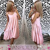 Сарафан женский модный асимметричного кроя софт разные цвета SMaa1599