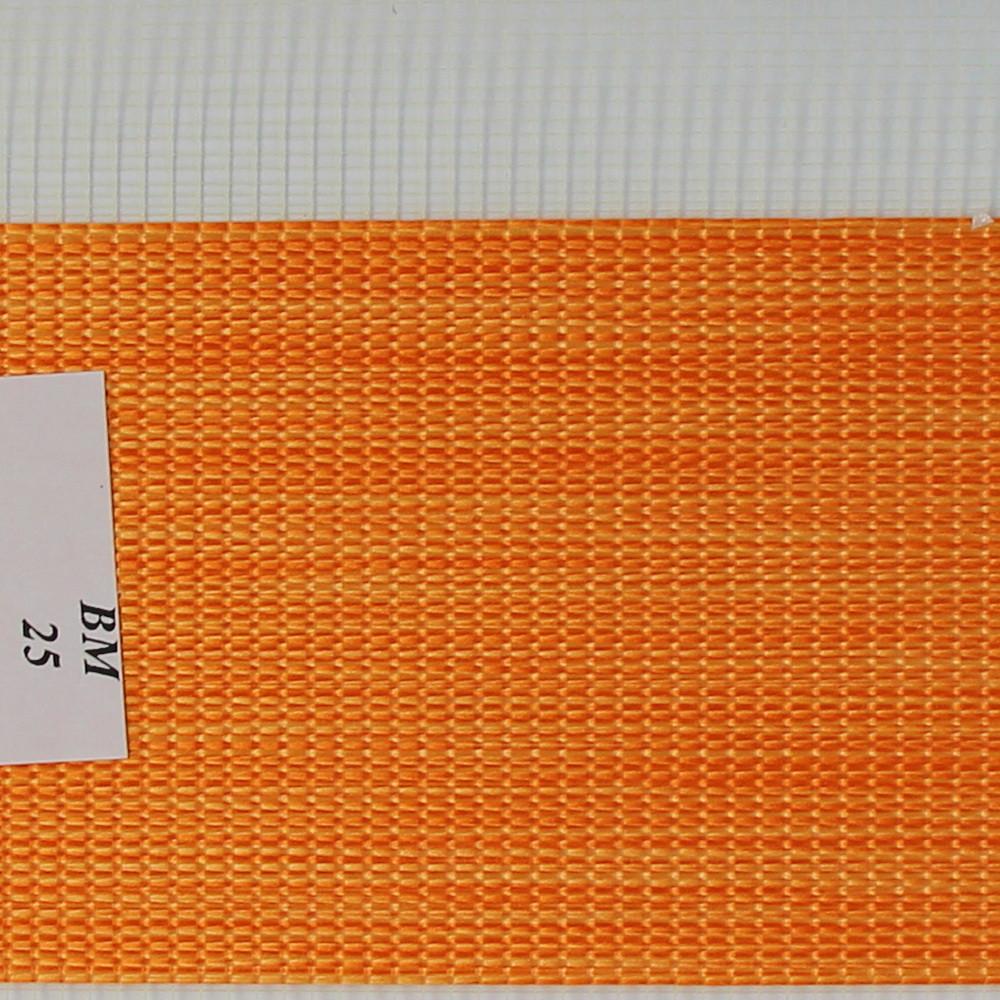 Рулонные шторы День-Ночь Ткань Женева ВМ-25 Оранжевый