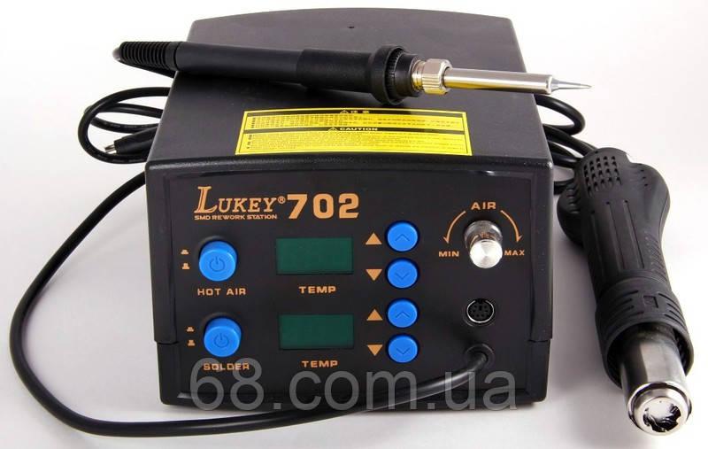 Паяльная станция Lukey 702 паяльник+фен