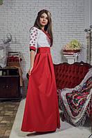 Платья с вышивкой в национальном стиле