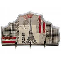 "Ключница вешалка ""Париж"", массив дерева 34х19см (30358)"