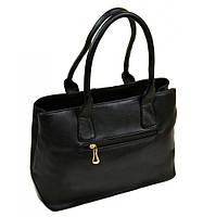 Сумка Женская Классическая иск-кожа 08-2 8102 black, сумка недорогая, среднего размера