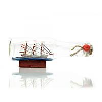 Парусник в бутылке 17,5х7х5см (23316)