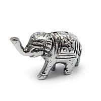 """Подставка под благовония """"Слон"""" """"серебро"""" 4х2,5х1,5см (24738)"""