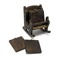 """Подстаканники """" Кресло"""" манго 16,5х17,5х10,5 (24732A)"""