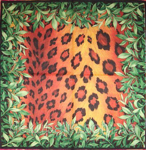 Салфетки декупажные Расцветка шкуры гепарда 2996