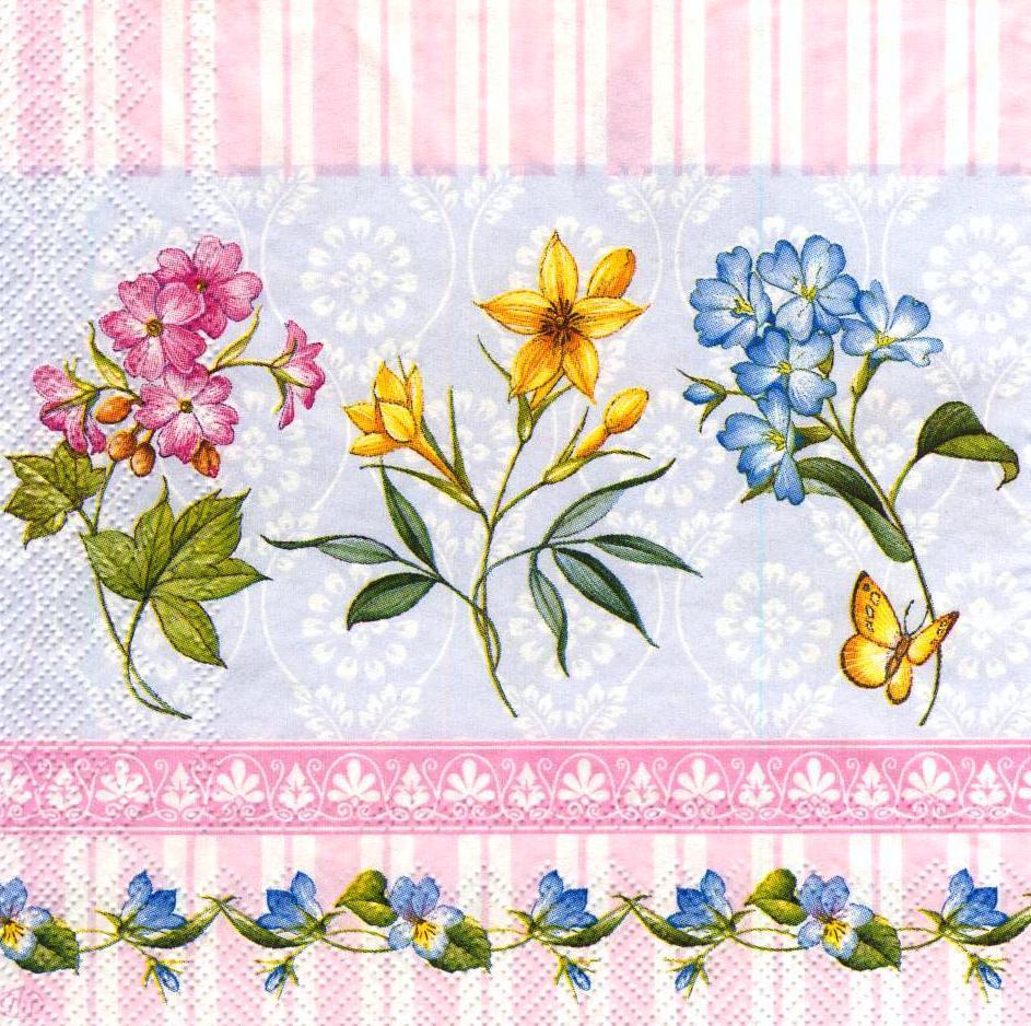Декупажные салфетки Веточки разных цветов 3006