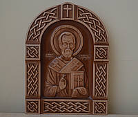 Резная икона Николай Чудотворец, фото 1