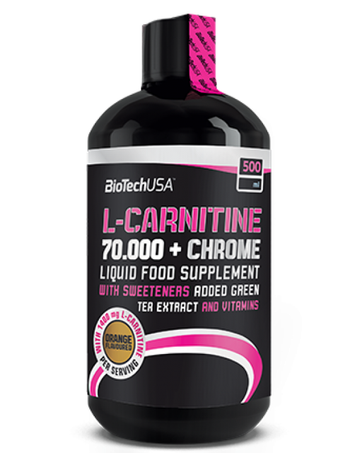 Жиросжигатель BioTech L-Carnitine 70 000 + Chrome (500 ml)