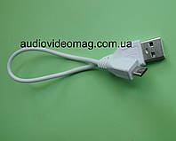 Кабель USB - microUSB, белый, длина 25  см