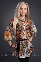 Красивая летняя блуза в цветы