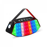 Беспроводная стерео колонка WS-1518BT с разноцветной LED подсветкой и фонарем