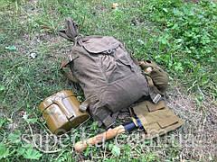Мужской подарок  СССР 5 предметов  (малая пехотная лопата,вещмешок,армейский котелок,фляга,чехол СССР), фото 2