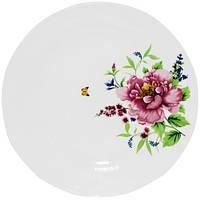 """Набор 6 обеденных тарелок """"Летний Сад"""" Ø22.5см, фарфор"""