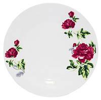 "Набор 6 мелких тарелок ""Цветущий Пион"" Ø20см, фарфор"