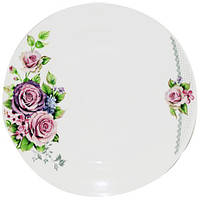 "Набор 6 обеденных тарелок ""Волшебная Роза"" Ø22.5см, фарфор"