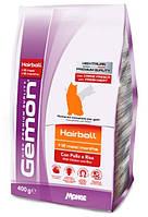 Gemon (Гемон) Cat Hairball корм для выведение шерсти для взрослых кошек с курицей и рисом, 400 г