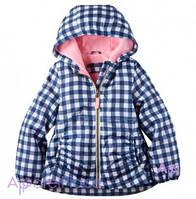 Carter's Куртка в клетку на флисе на девочку