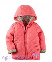 Carter's Куртка розовая на девочку, Цветы