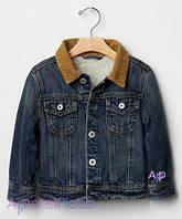 Gap Куртка джинсовая на мальчика на искусственном меху