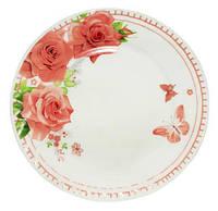 """Набор 6 десертных тарелок """"Роза"""" Ø17.5см, стеклокерамика"""