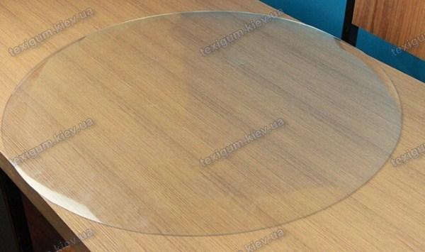 Коврик защитный прозрачный круглый 50см. Толщина 1,0мм