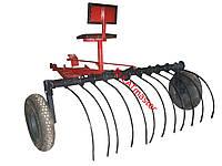 Грабли для мотоблока с сидушкой (адаптер с граблями)